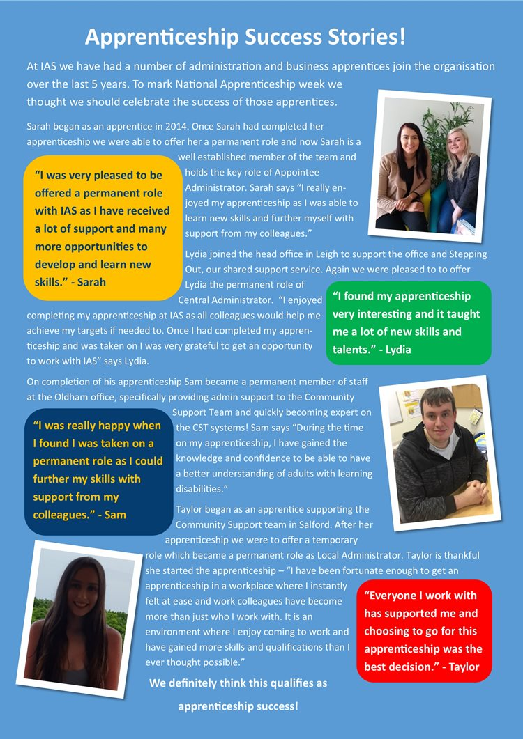 Apprenticeship Success Stories